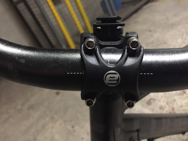 4 allen head screws that secure the handlebar to the stem